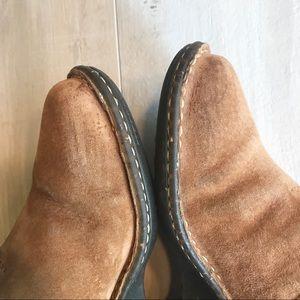 UGG Shoes - UGG Chestnut Suede Gael Slip On Wedge Clog